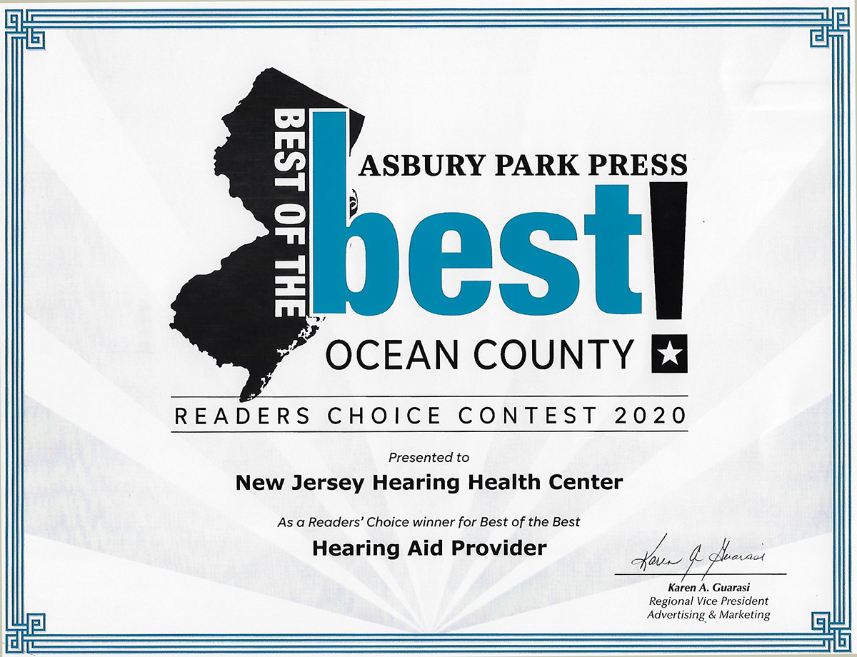 New Jersey Hearing Wins Best of the Best Audiologist